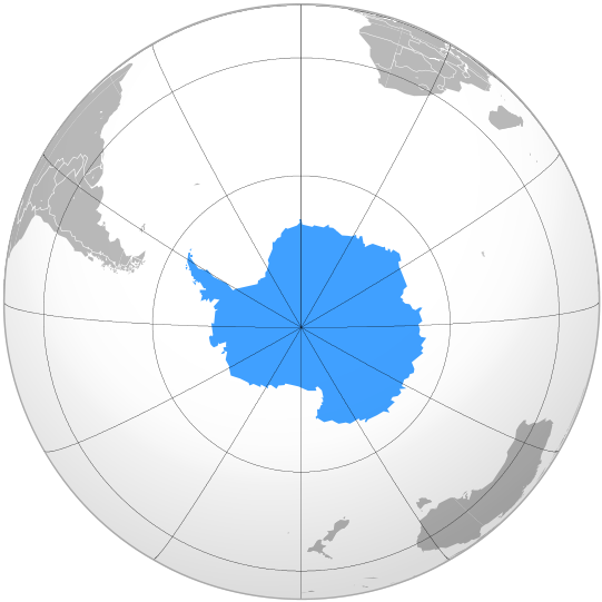 Globe with Antartica marked.